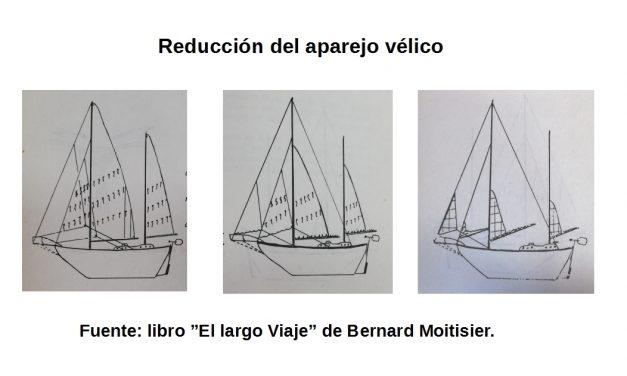 La reducción del aparejo vélico